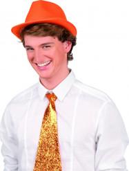 Chapéu borsalino cor de laranja adulto