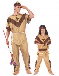 Disfarce de casal índios para pai e filho