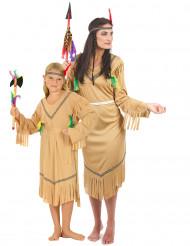 Disfarce de casal índias para mãe e filha