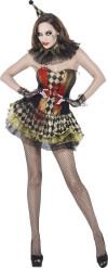 Disfarce zombie bobo mulher Halloween