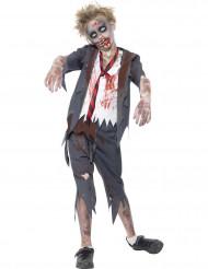 Disfarce zumbi aluno menino Halloween