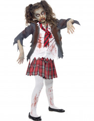 Disfarce zumbi estudante rapariga Halloween