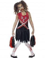 Disfarce pompom girl zumbi menina Halloween