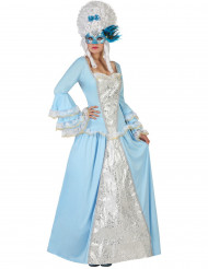 Disfarce princesa baroco azul mulher
