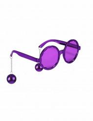óculos roxos disco adultos
