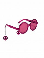 óculos cor de rosa adulto