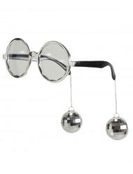 Óculos Disco adulto prateado