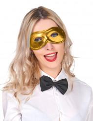 Máscara metalizada dourado