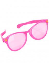 óculos gigantes cor-de-rosa