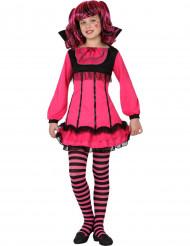 Disfarce de vampiro rosa menina Halloween