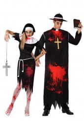 Disfarce de casal zombies religiosos