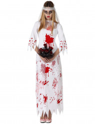 Disfarce noiva ensanguentada mulher Halloween