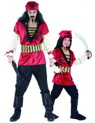 Disfarce de casal Piratas Pai e Filho