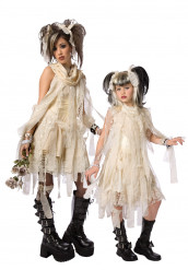 Disfarce de sacal múmia gótica mãe e filha