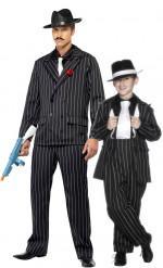 Disfarce de casal gangster charleston Pai e filho