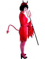 Cauda de diabo vermelho adulto Halloween