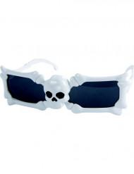 Óculos brancos caveira adulto Halloween