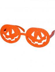 óculos abóbora adulto Halloween
