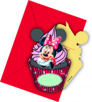 6 Convites e envelopes Minnie™