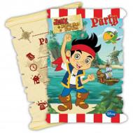 6 Convites com envelopes Jake e os Piratas da Terra do Nunca™