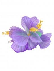 Flor violeta Havaiana para o cabelo