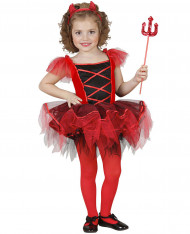 Disfarce diaba tutu menina Halloween