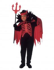 Disfarce diabo vermelho criança Halloween