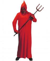 Disfarce demônio vermelho adulto Halloween