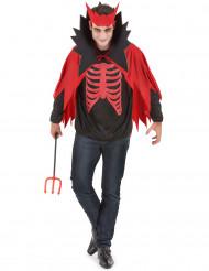 Disfarce diabo vermelho homem Halloween
