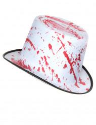 Chapéu branco ensanguentado adulto Halloween