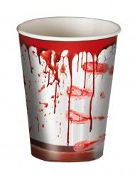 8 Copos Halloween sangrentos
