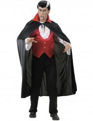 Capa vampiro gola vermelha adulto Halloween