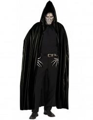 Capa preta com carapuço adulto Halloween