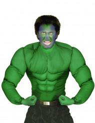 Camisa músculos verdes adulto