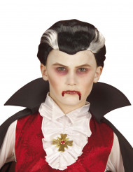 Peruca vampiro criança Halloween