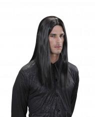 Peruca vampiro preta adulto Halloween