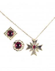 Kit jóias vampiro adulto Halloween