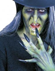 Unhas falsas de cor preta adulto Halloween
