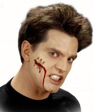 Falsa ferida corte com alfinete adulto Halloween