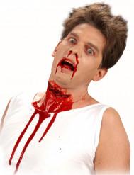 Falsa frida na garganta cortada adulto halloween