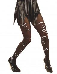 Meia calça morçegos adulto Halloween