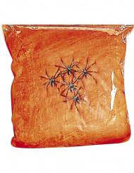 Falsa teia de aranha cor de laranja Halloween