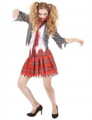 Disfarce de aluna zombie mulher