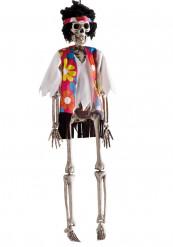 Decoração a suspender esqueleto hippie Halloween