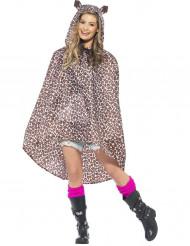 Capa poncho leopardo