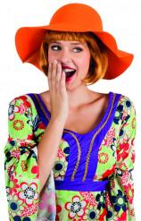 Chapéu de verão cor de laranja mulher