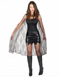 Capa preta com teias de aranhas mulher