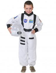 Disfarce de astronauta branco para criança