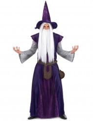 Disfarce de mago roxo Adulto
