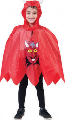 Poncho de diabo criança Halloween